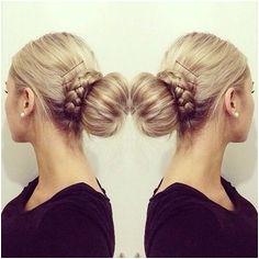 Sock bun and braid Braided Bun Hairstyles Cute Hairstyles fice Hairstyles Beautiful Hairstyles
