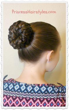 Easy hairstyle tutorial Pinwheel bun shortcut Easy Updo Hairstyles Pretty Hairstyles Girl