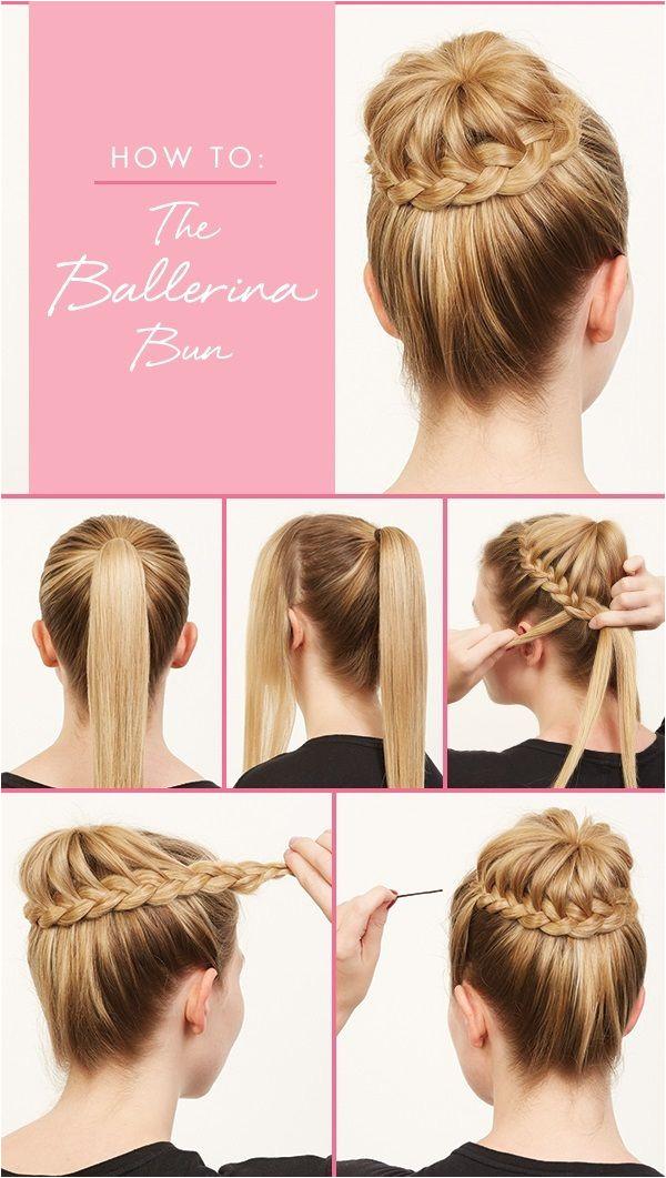 Cute Hairstyles Pinwheel Bun How to the Ballerina Bun Casual Hairstyles Pinterest