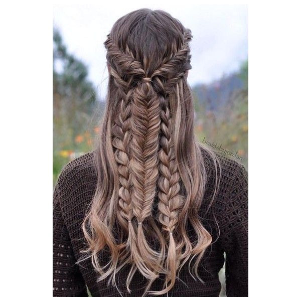 33 Favourite Wedding Hairstyles For Long Hair ❤ liked on Polyvore featuring beauty products haircare and hair styling tools