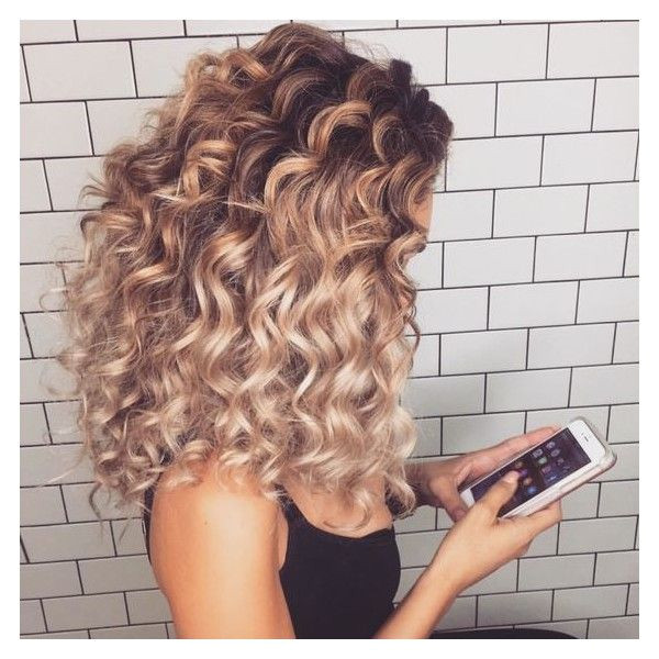 54 Nice Cute Curly Hairstyles for Medium Hair 2017 ❤ liked on Polyvore featuring beauty products haircare hair styling tools and curly hair care