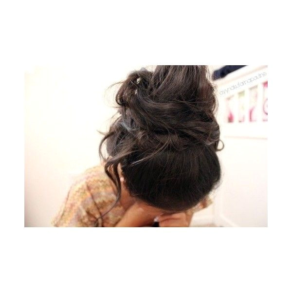 Cute Hairstyles Polyvore Cute Messy Bun ❤ Liked On Polyvore Featuring Beauty Products