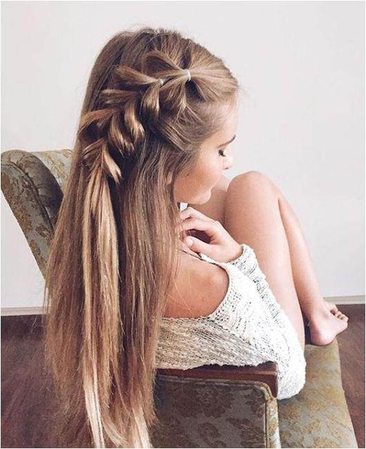 20 Gorgeous Hairstyles For Long Hair Society19 Pull through braids make such cute
