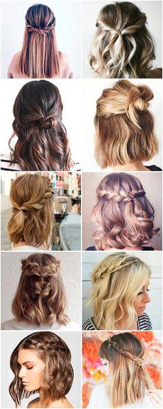 Simple Hairstyles For Medium Hair Short Hair Updo Easy Hairstyles For Medium Length Hair Pulled Back Hairstyles Braided Hairstyles Haar Make up