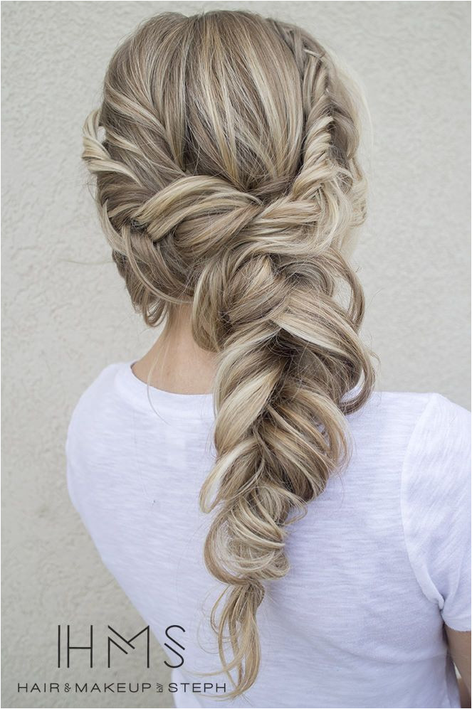 Messy but cute Bridesmaid Braided Hairstyles Braid Hairstyles For Long Hair Pulled Back