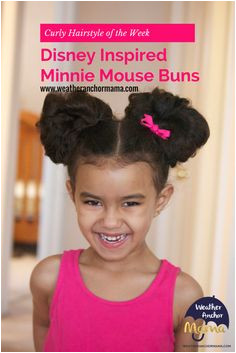 Curly Hairstyle of the Week Disney Inspired Minnie Mouse Buns
