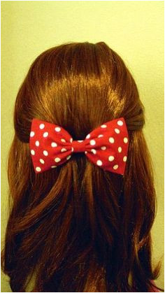 Items similar to Raging Retro & Rockabilly Hair Bow Minnie Mouse Look Pink with Brown Dots Blue with white Dots Purple with Pink Dots on Etsy