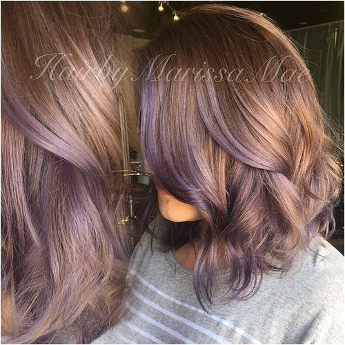 Dark blonde hair with purple highlights SO CUTE