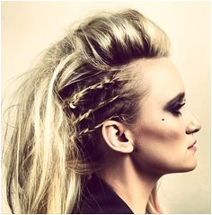 Braid hawk this would be sick for a circus piece Lagherta Vikings Rocker Hairstyles