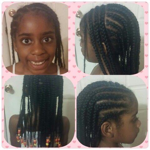 Girl hairstyles · Braids and beads Pretty girls rock