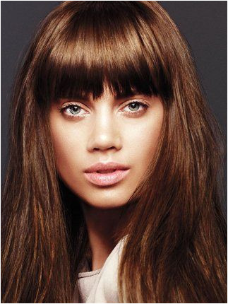 Cute Ways to Cut Your Bangs Wispy Layered Bangs With Long Hair