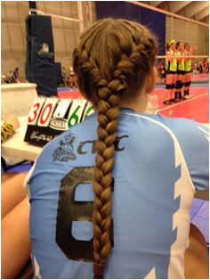 Volleyball hair Volleyball Braids Volleyball Hairstyles Softball Hair Braids Gymnastics Hairstyles Athletic