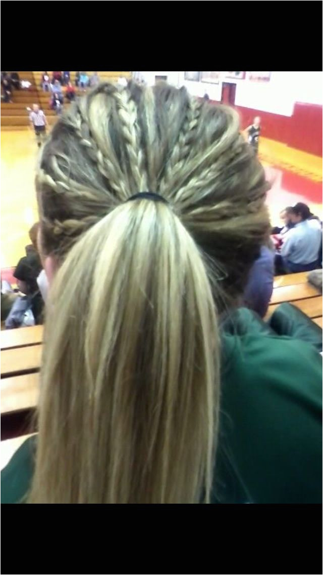 Tiny multiple braids tied into a ponytail Basketball Hairstyles Sport Hairstyles Athletic Hairstyles