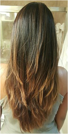 Long layers v cut bayalage Ombre hairstyle Long Hair V Cut Long Hair Layer Cut