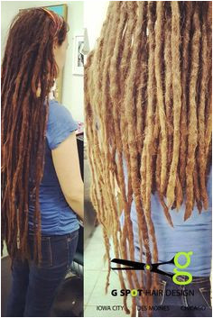 Ten years of these gorgeous dreads and it was time for a trim Give G Spot Hair Design a call for all our dready needs Des Moines and Iowa City