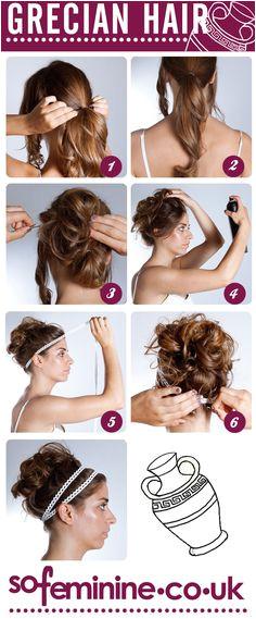 DIY Tutorial How To Do Grecian Hair