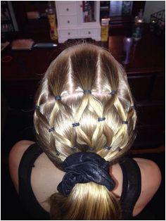 Cute and easy hair style for the kiddos Gymnastics Meet Hair Softball Hairstyles