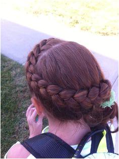 Zig zag Dutch braid Shannon Miller · Gymnastics hairstyles