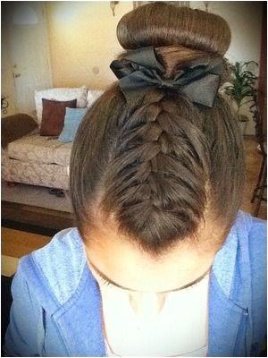 Gymnastics hair and makeup 💕💖