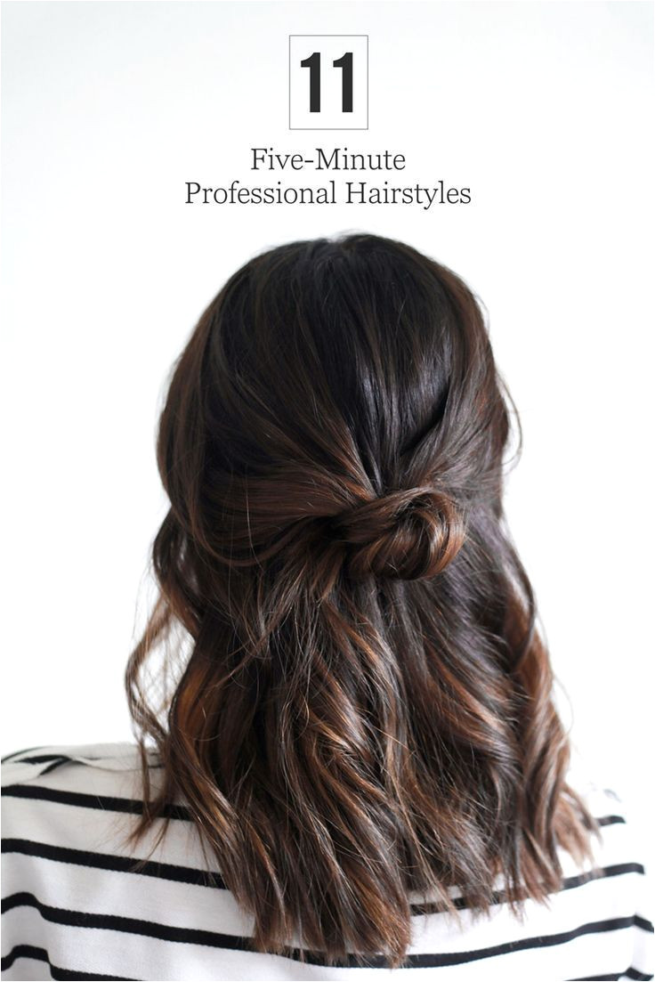 Stop stressing about what to do with your hair each morning Try out one of these simple 5 minute styles