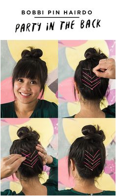 Party in the Back Bobby Pin Hairdo Hair Growth Tips Diy Hairstyles