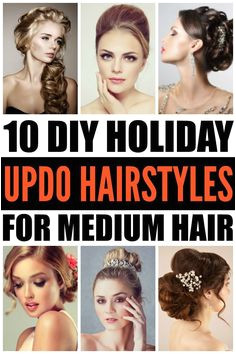 DIY Updo Hairstyles 10 Holiday Hairstyles for Medium Hair