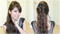 Elegant Prom Half Updo Hairstyle