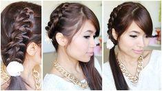 Crochet Braid Ponytail Hairstyle for Medium Long Hair Tutorial Bebexo