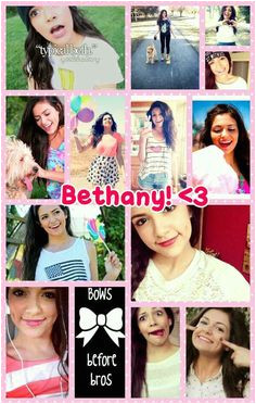 Bethany Mota collage made by me xx Zoe She is soo funny and really good with makeup and hair so if you havent watched her videos then go watch them
