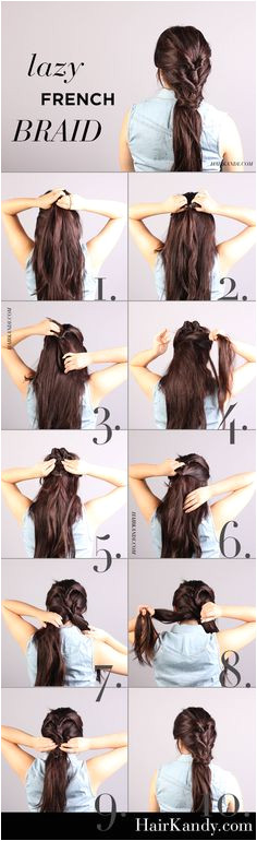 "Easy and quick tutorial Boho like ""lazy"" French Braid Casual but"