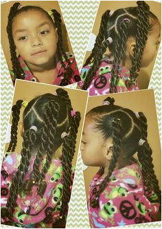 Mixed natural black girls kids hair rope braid pretty easy simple cute curly biracial