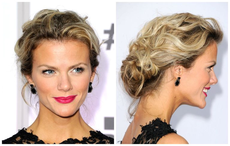 Brooklyn Decker with a casual updo Frazer Harrison for Getty