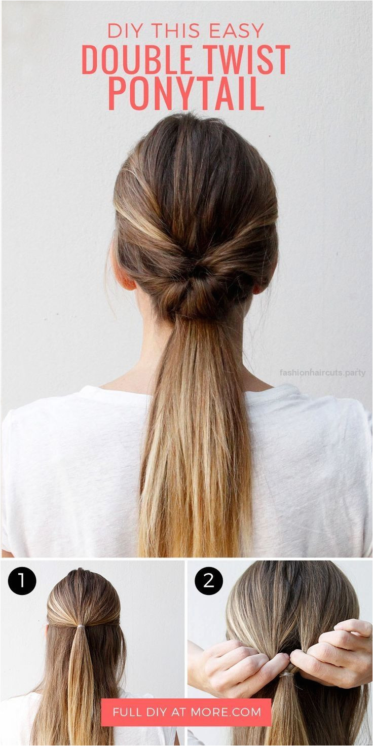 This double twist ponytail hair tutorial is the perfect hairstyle for going out … This