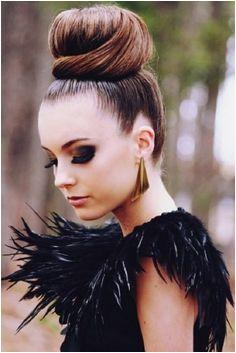 Beautiful sleek bun for a first date night Chignon Bun Topknot Bun Beauty Makeup