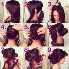 awesome Step By Step Updo Hair Tutorial hair long hair hair ideas how to diy hair hairstyles hair tutorials medium hair easy hairstyles