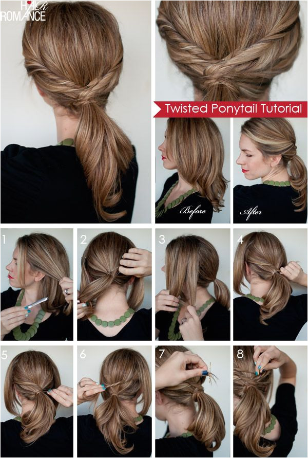 Hair Romance Twisted ponytail tutorial long long hair please Always look like a woman