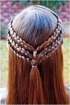 Triple braided half up hairstyle e twists instead Kid Hairstyles For Girls