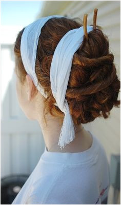 This is a good example of the hair wraps adorning many Roman hair styles Though the original ones are more likely to be made of finer fabrics and ribbons