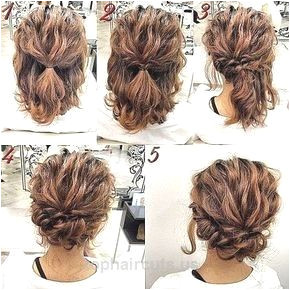 Romantic Easy Updo Hairstyle Tutorial for Short Hair Sweet and Simple Prom Hai…