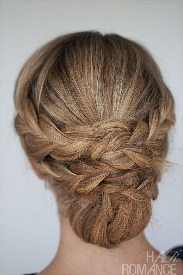 Pretty braid updos