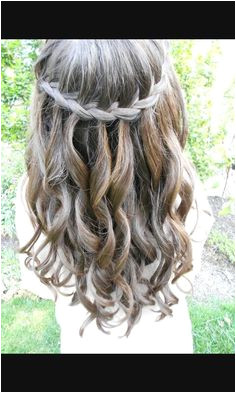 44 Beautiful Waterfall Braid Hairstyles for Winter Ball 29 formal Hairstyles 9