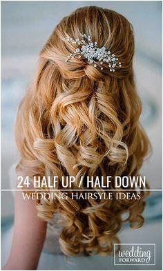 24 Stunning Half Up Half Down Wedding Hairstyles Wedding Hairstyles Curls Curly Bridesmaid Hairstyles
