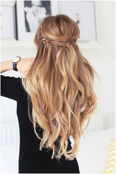 braid fashion nails makeup Half Up Half Down Hair with Long Hair Two small fishtail braids on each side Balayage Hairstyles