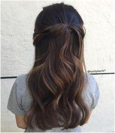 Wavy Half Up Half Down Hairstyle Prom Hairstyles Down Hairstyles Birthday Hairstyles Easy