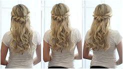 bridal hair tutorial half up half down