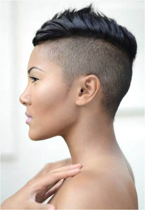 CUTE CHIC AND Y MOHAWK HAIRSTYLES FOR BLACK WOMEN WITH SHORT HAIR