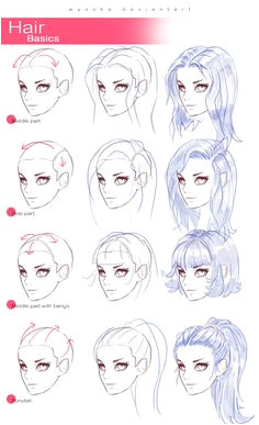 drawingden How To Draw Hair 2 by wysoka How To Draw Anime Hair How