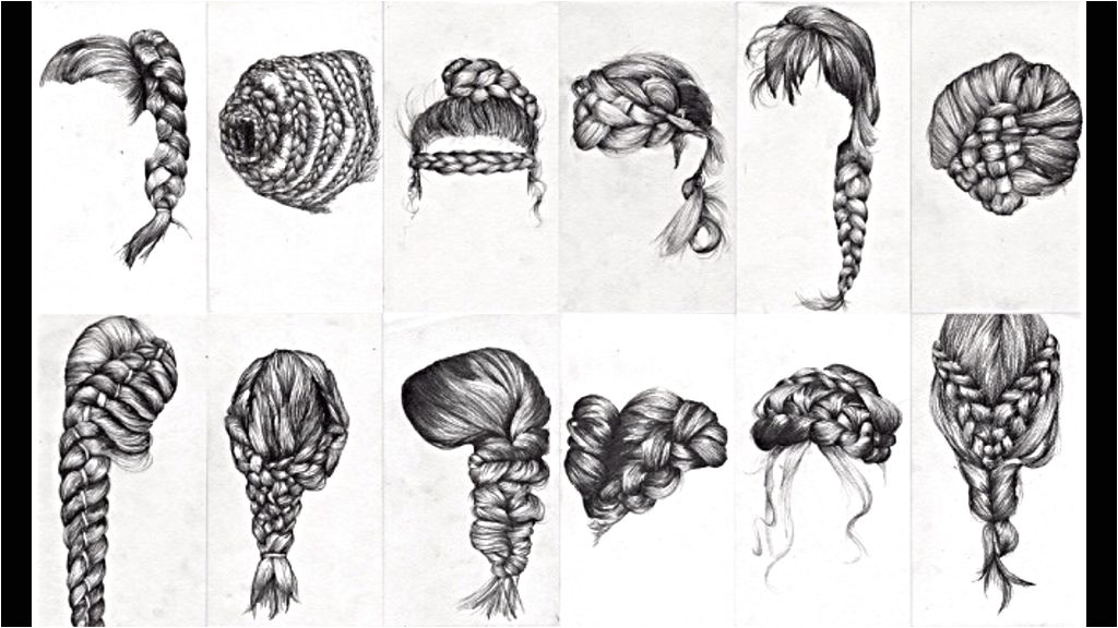 Braids Braids Drawing Hair