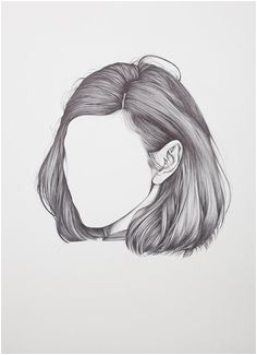 first solo exhibition called The Hum by Henrietta Harris Drawings Hair Short