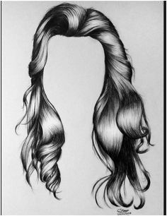 Realistic Drawings Drawings Hair Curly Hair Drawing Amazing Drawings How To